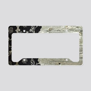 western country barn wood lac License Plate Holder