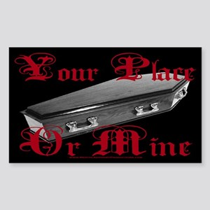 My Coffin Rectangle Sticker