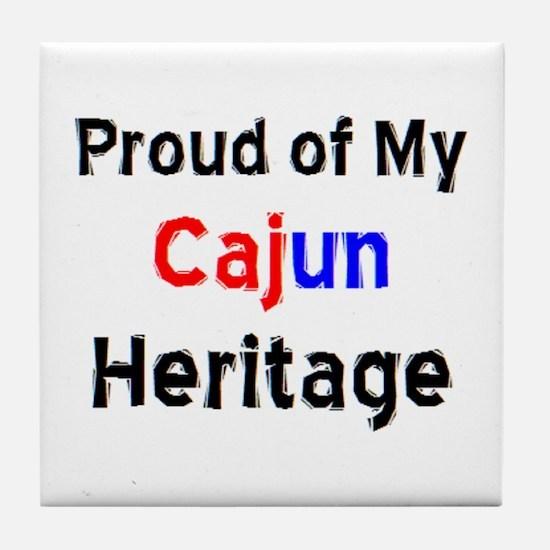 cajun heritage Tile Coaster