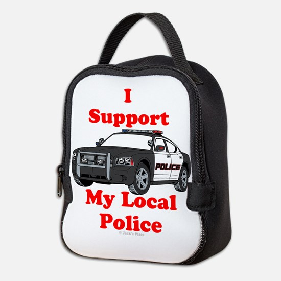 Support Local Police Neoprene Lunch Bag