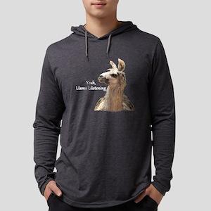 Llama Llistening Long Sleeve T-Shirt