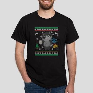 Eggnog Kitty Cat Ugly Christmas Sweater Sh T-Shirt