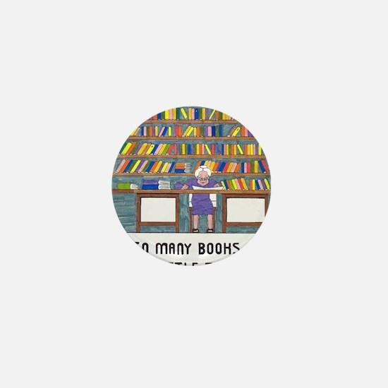 So Many Books so little time Mini Button