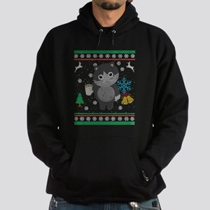 Eggnog Kitty Cat Ugly Christmas Sweater Sweatshirt