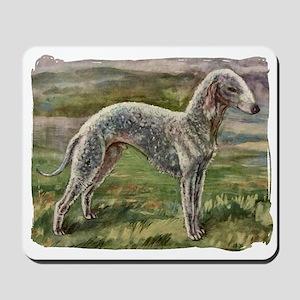 Vintage Bedlington Terrier Mousepad