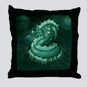 Sea Serpent Throw Pillow