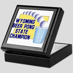 Wyoming Beer Pong State Champ Keepsake Box