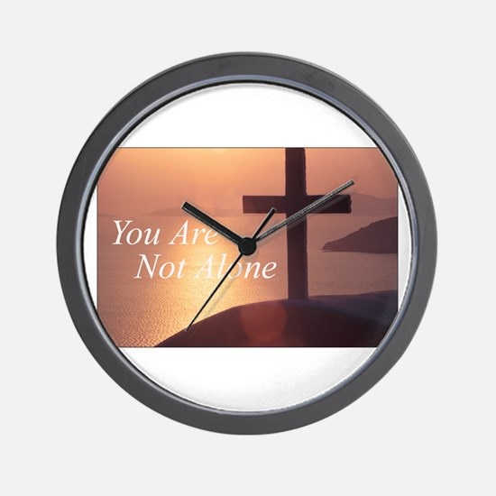You Are Not Alone - Cross Wall Clock