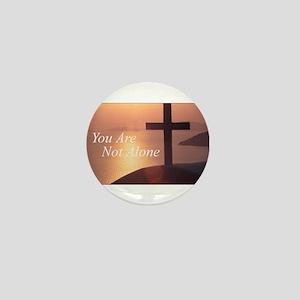 You Are Not Alone - Cross Mini Button