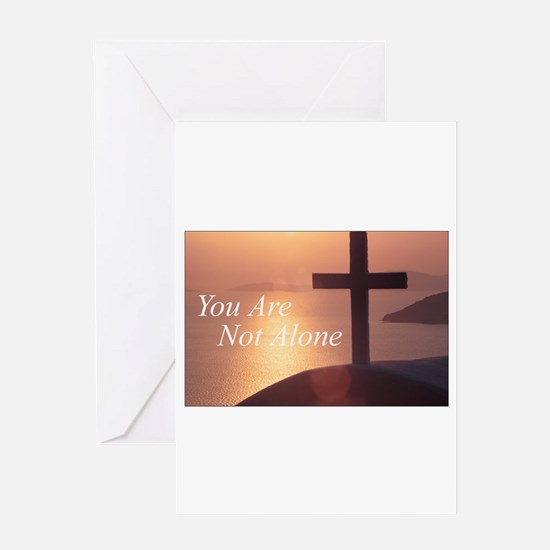 You Are Not Alone - Cross Greeting Card