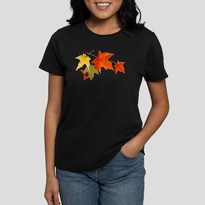 Autumn Colors - One Side Women's Dark T-Shirt