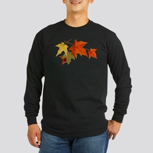 Autumn Colors - One Side Long Sleeve Dark T-Shirt