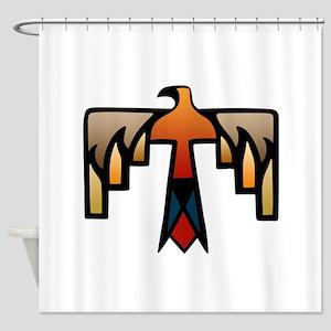 Thunderbird - Native American India Shower Curtain