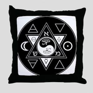 New Hermetics Seal Black on White Throw Pillow