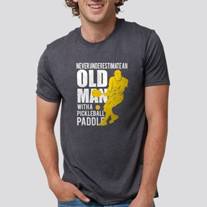 Old Man With A Pickleball Paddle T Shirt T-Shirt