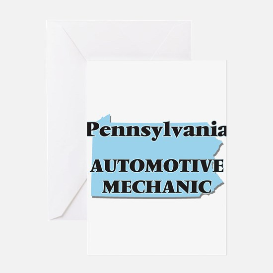 Pennsylvania Automotive Mechanic Greeting Cards