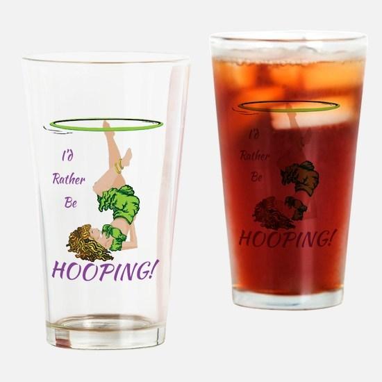 Funny Hula hoops Drinking Glass