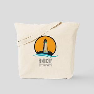 Santa Cruz California CA Light House Tote Bag