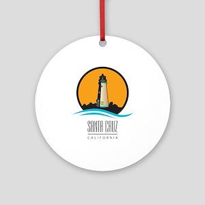 Santa Cruz California CA Light Hous Round Ornament