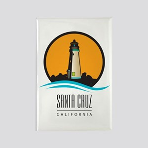 Santa Cruz California CA Light Ho Rectangle Magnet
