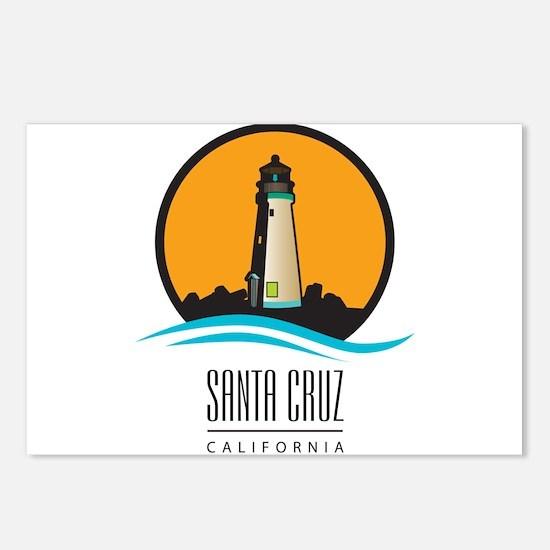 Santa Cruz California CA Postcards (Package of 8)