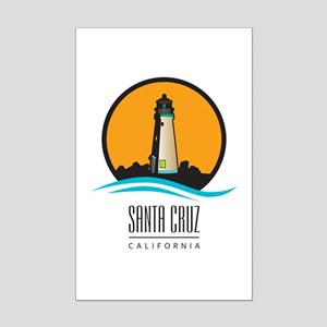 Santa Cruz California CA Light H Mini Poster Print