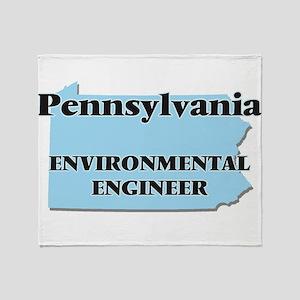 Pennsylvania Environmental Engineer Throw Blanket