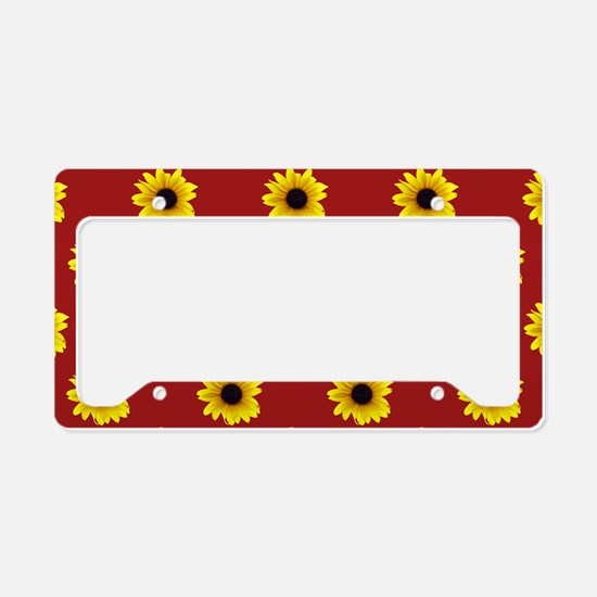 Pretty Sunflower Pattern with License Plate Holder