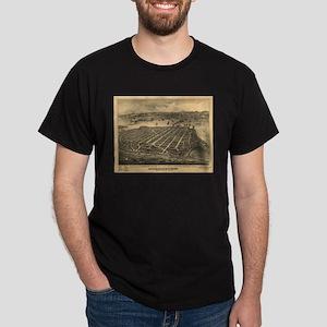 San Diego Old Map Dark T-Shirt