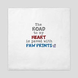 road paw prints Queen Duvet
