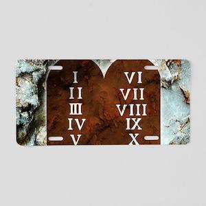 Ten Commandments Aluminum License Plate