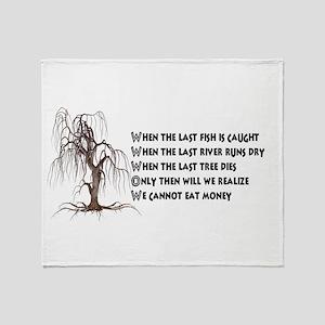 When The Last Tree Dies Throw Blanket