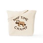 Nap Time Champ Tote Bag
