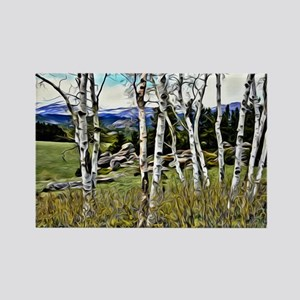 Aspens and Mountains Magnets