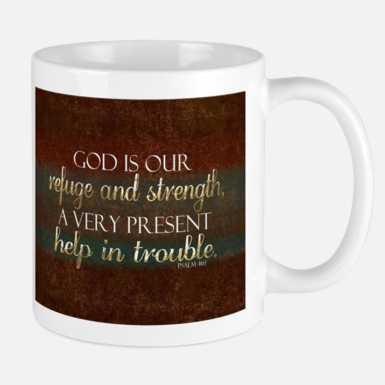 God is our Refuge Bible Scripture Christian Mugs