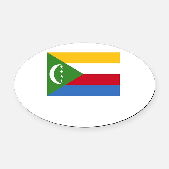 Flag And Name Oval Car Magnet