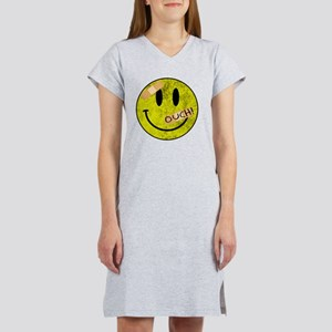 OUCH ADHESIVE TAPES SMILEY FACE Women's Nightshirt