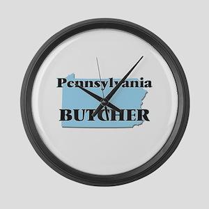 Pennsylvania Butcher Large Wall Clock