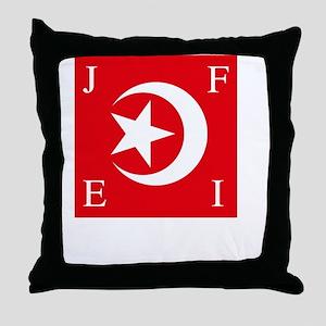 Flag And Name Throw Pillow