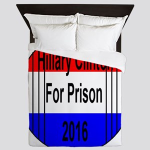 Hillary Clinton For Prison Queen Duvet