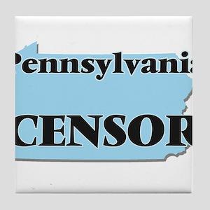 Pennsylvania Censor Tile Coaster