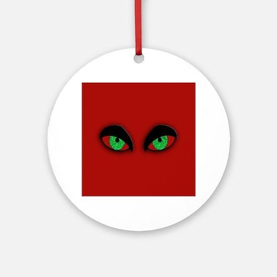Vampire Eyes Round Ornament