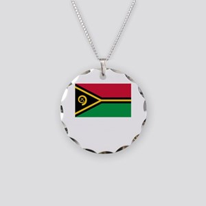 Flag And Name Necklace Circle Charm