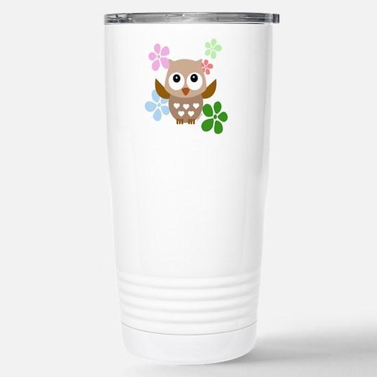 Cute Owls Stainless Steel Travel Mug