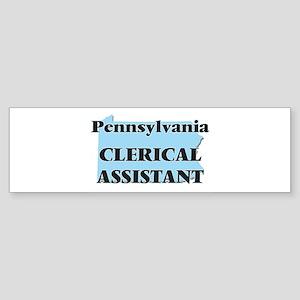 Pennsylvania Clerical Assistant Bumper Sticker