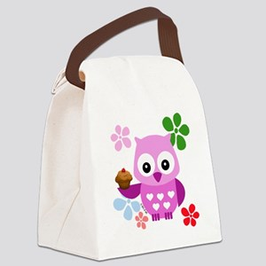 Cute Owls Canvas Lunch Bag