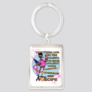 RANDY BREAST CANCER AWARENESS Keychains