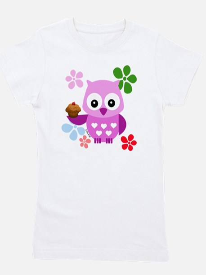 Cute Owl Girl's Tee