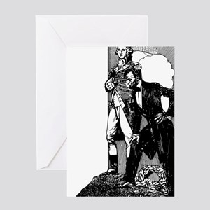 abraham lincoln george washington Greeting Card