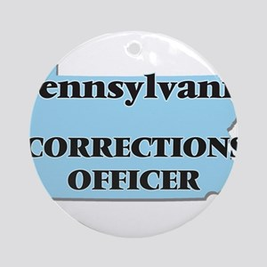 Pennsylvania Corrections Officer Round Ornament